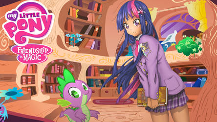 Anime Twilight Sparkle (Wallpaper ver.) by Sazuko