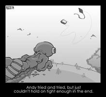 Andy Tries to Hold On by deaddays