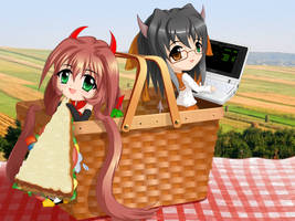 BSD Visual Novel Main Menu by C-quel