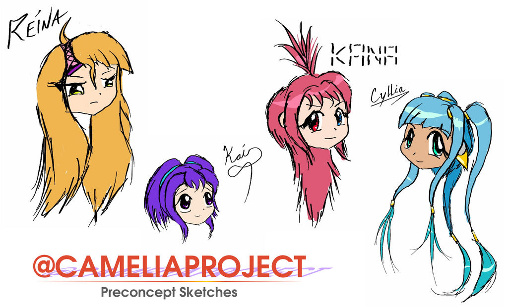 CameliaProject Preconcept Sketches by C-quel