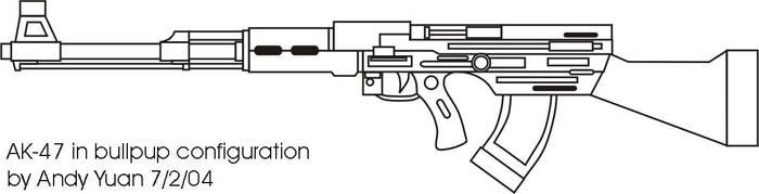 AK-47: Bullpup configuration by c-force