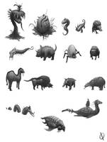 Creatures by Dardagan