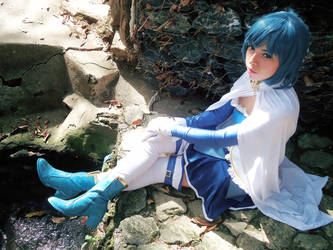 Blue warrior by nazcacosplay