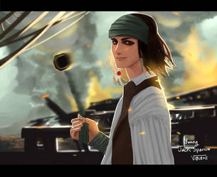 Young Jack Sparrow by VIOLOXE