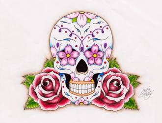 Sugar Skull Tattoo by Sissyempress999