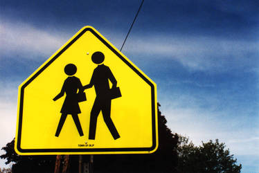 Roadsigns-Pedestrian by sapphiretiger-stock