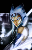 Ahsoka Tano now with the right color lightsabers by glencanlas
