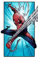 swinging spiderman by glencanlas