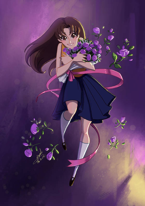 Maya and Purple Roses by Maggy-P