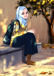 Muslim girl by Maggy-P