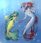 Mermaid and merman 2 by Maggy-P