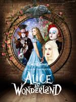 Alice in Wonderland Fan Poster by amidsummernights