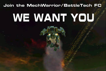 WE WANT YOU by Mechwarrior-fc