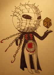 Keronian Pinhead (Keroro Gunso x Hellraiser) by Zalaine