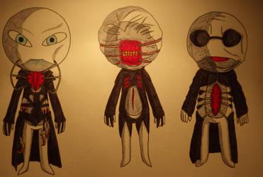 Keronian Cenobites (Keroro Gunso x Hellraiser) by Zalaine