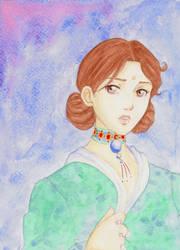 Saphira painted by Saphriel